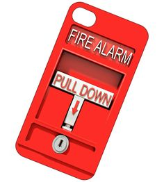 iPhone Case, iPhone 4 or 4S, iPhone cover - Unique iPhone Case - Fire Alarm iPhone Case. $16.95, via Etsy.