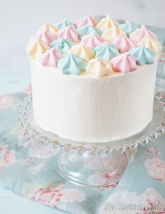 The Sweetest Taste: Lemon cake and Italian meringue buttercream (and lemon meringues)