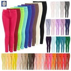 New Womens Skinny 44 Color Jeggings Stretchy Sexy Ponte Pants Leggings Tight Fit #NEPEOPLE #CasualPants