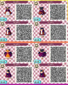 Animal Crossing New Leaf cute dress. Animal crossing qr codes.
