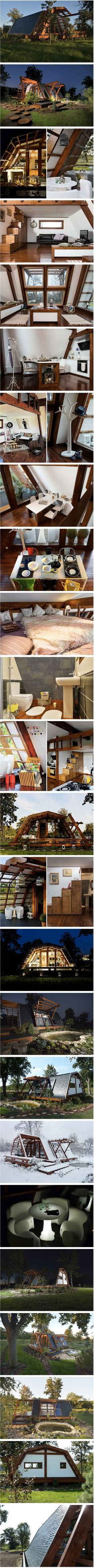 "Tiny home goodness.   ""500-square-foot-off-the-grid-soleta-home"""