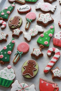 Fun collection of Christmas cookies by Sweetopia.