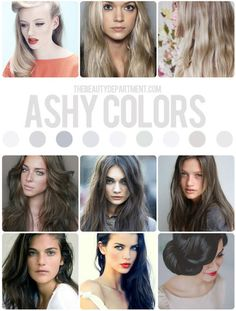 Ash tones are the coolest of cool & not for the faint of heart. Ash hair color.