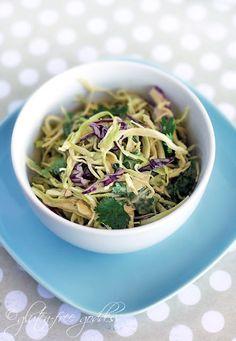 Asian style coleslaw recipe with Thai peanut dressing- a favorite vegan recipe