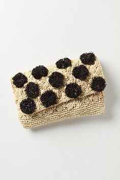 Raffia clutch..  Too cute...