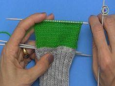 Projekt: Sockenstricken hier eine einfache Fersenwand, 3. Teil - YouTube