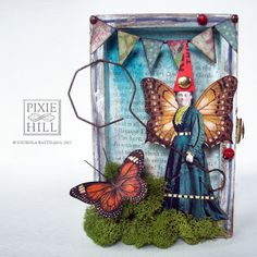 The Catcher - A Whimsical Original Mixed Media Altered Art Fairy - Pixie Hill Studio Altered Tins, Altered Art, Bubble Wands, Arts And Crafts, Paper Crafts, Butterfly Fairy, Paperclay, Button Art, Artist Trading Cards