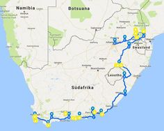 SOUTH AFRICA: 3 WEEKS 4627 KM FROM CAPSTADT TO JOHANNISBURG Beaufort West, West East, Maputo, Das Hotel, Round Trip, Dream Vacations, South Africa, Travel Destinations, National Parks