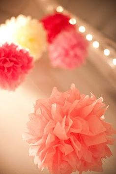 Decorations budget is LOW, but I can make these pom-poms easy-peasy. Question is... would they work for our event?