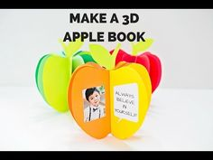 How to Make a 3D Paper Apple Book - YouTube