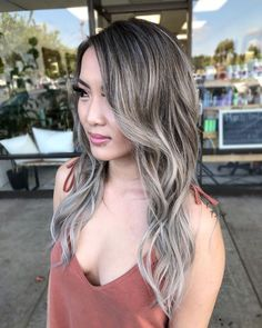Hair Color 2017, Hair Color Guide, Hair Colors, Brown Hair With Highlights, Balayage Highlights, Silver Highlights, Balayage Color, Brown Balayage, Blonde Balayage