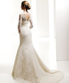 mermaid-tail wedding gown