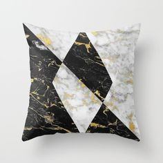 Gold Flecked Marble Geometry Throw Pillow – BySamantha