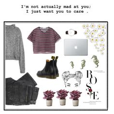 """""""❤️"""" by cilka-nedbalova on Polyvore featuring Dr. Martens, Daniel Wellington, Nudie Jeans Co., MANGO and Torre & Tagus"""