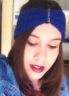 Faixa para cabelo Azul