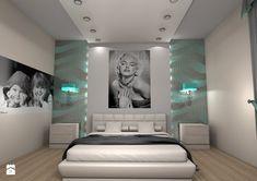 Sypialnia styl Glamour - zdjęcie od Studio graficzne SCHADE - Sypialnia - Styl Glamour - Studio graficzne  SCHADE
