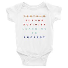 TooLoud Nevertheless She Persisted Womens Rights Baby Romper Bodysuit