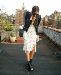 Gorgeous Danielle @weworewhat in the Crochet Midi Dress - get it on shopbop.com