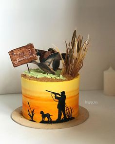 Cake nature fast and easy - Clean Eating Snacks Duck Hunting Cakes, Hunting Birthday Cakes, Birthday Cakes For Men, Cakes For Boys, Hunting Grooms Cake, Duck Cake, Painted Cakes, Colorful Cakes, Holiday Cakes