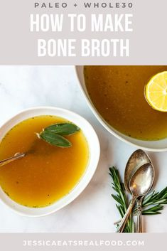 Bone Broth is amazing for its anti-inflammatory, anti-fungal properties and its ability to heal guts + fight colds. But, it also tastes incredible + adds all sorts of depth of flavour to soups and other recipes! It's so easy to make, there's no need to spend big money on the ready made versions. This recipe includes stove top, slow cooker and instant pot instructions! Whole 30 Recipes, Fall Recipes, Whole Food Recipes, Keto Recipes, Making Bone Broth, Paleo Meal Prep, Big Money, Food Preparation, Slow Cooker Recipes
