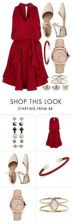 """Notte della taranta"" by coolerthanice98 ❤ liked on Polyvore featuring 1&20 Blackbirds, Finders Keepers, Gap, Majorica, Burberry, LUMO and Mudd"