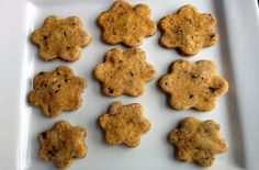 The blueberries add a little sweetness to this homemade dog cookie, while the pumpkin adds some welcome digestive benefits.