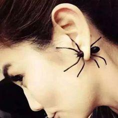 Schwarz Ohrstecker Spider Spinne Tarantel Ohrringe Herren Damen Halloween Schmuc in Uhren & Schmuck, Modeschmuck, Ohrschmuck | eBay