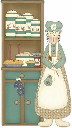 .BAKE SALE LADY CLIPART