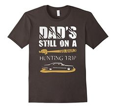 Men's Dad's Still On Hunting Trip T-shirt Asphalt Supernatural Gifts, Online Graphic Design, Cheap Vinyl, Travel Shirts, Heat Transfer Vinyl, Direct To Garment Printer, Mens Fitness, Hunting, Shirt Designs