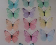 16 Pastel Girls Boys Bedroom Wall Furniture 3d Flying Butterfly Accessories