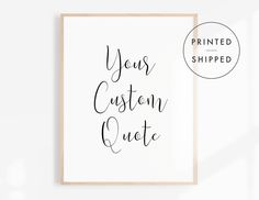 Custom Signs, Handwriting Print, Living Room Decor, Typography Print, Black and White Poster, Modern Wall Art, Minimalist Home Decor Typography Prints, Quote Prints, Wall Art Prints, Minimalist Home Decor, Minimalist Poster, Love Signs, Bar Signs, Black And White Posters, Mottos