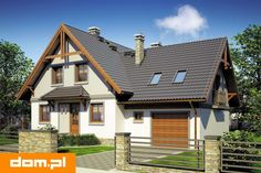 DOM.PL™ - Projekt domu Mój Dom Tapien CE - DOM BM2-70 - gotowy koszt budowy Classic House, Cottage Homes, Home Fashion, House Plans, Sweet Home, Villa, House Design, Interior Design, House Styles