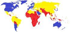 Weltkarte der Welten - Die erste zweite und dritte Welt laut HDI 2015