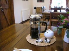 Typical coffee pot as served in Scotland. This was taken at a Bed & Breakfast.