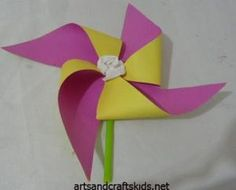 Windmill Craft | Craft ideas | Easy crafts ideas for kids – Craft projects by hazel