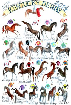 Kentucky Derby artwork is here! Kentucky Derby, My Old Kentucky Home, Derby Time, Derby Day, Courses Hippiques, Derby Horse, Derby Winners, Run For The Roses, Sport Of Kings