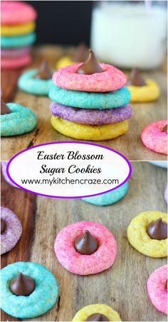 Easter Blossom Sugar Cookies + Recipe Video - My Kitchen Craze - Easter Blossom Sugar Cookies ~ www.mykitchencraz… Easter Blossom Sugar Cookies ~ www. Easter Deserts, Easter Snacks, Easter Brunch, Easter Treats, Easter Recipes, Easter Food, Easter Party, Easter Baking Ideas, Easy Easter Desserts