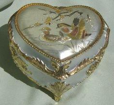 Hearts:  Vintage Japanese #heart music box.