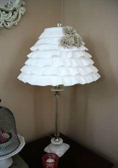 Como decorar cúpula de abajur com babados - Dica de artesanato e decoração super fácil ~ VillarteDesign Artesanato