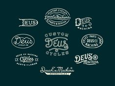 Deus Ex Machina Badges by Curtis Jinkins #Design Popular #Dribbble #shots