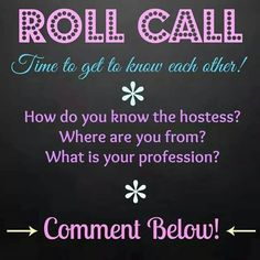 Scentsy Online Party Game: Roll Call. www.annaeast.scentsy.us Follow Me on FaceBook at: Anna East, Independent Scentsy Consultant