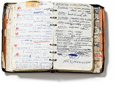 """What's more motivating than insight into the process of an artist, as scrawled in a personal notebook, of say, Nick Cave. The Dictionary of Words (1984) is a visual collection of unusual words, later to be developed into his lyrics writing."""