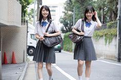 Shiori Kubo × Mizuki Yamashita - Ex Taishu School Girl Japan, Japan School Uniform, School Uniform Fashion, School Uniform Girls, Girls Uniforms, High School Girls, School Uniforms, Japanese Uniform, Cute Asian Girls
