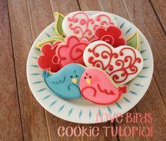 Love Birds Valentine Cookie Tutorial