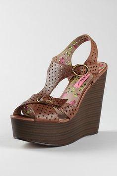 Betsy Johnson Calico Wedge Sandal