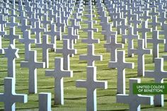 An image of a war cemetery - Benetton's Most Controversial Advertising Campaigns 1991