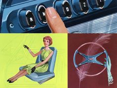 Plan59 :: 1950s Design :: Classic Car Art   Museum of Mid-Century Illustration