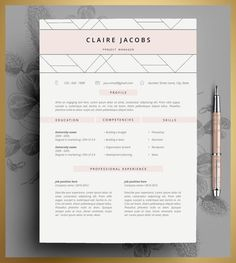 Resume Template 3 Page   CV Template   Design   Pinterest   Cv     Write design rewrite a professional resume writing service  Creative cv  templateResume Templates For
