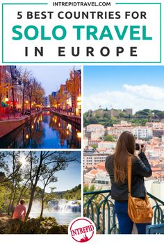 The 5 best countries for solo travel in Europe.  Intrepid Travel focuses on solo travel trips and tips.