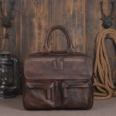 db3ce07b0f Handmade Vintage Genuine Leather Briefcase Men s Business Bag Handbag  Messenger Bag Laptop Bag 14134 Overview: